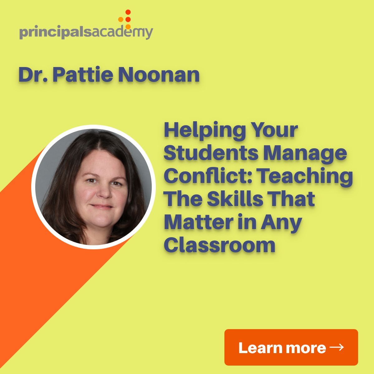 Dr Pattie Noonan-Helping your students manage conflict