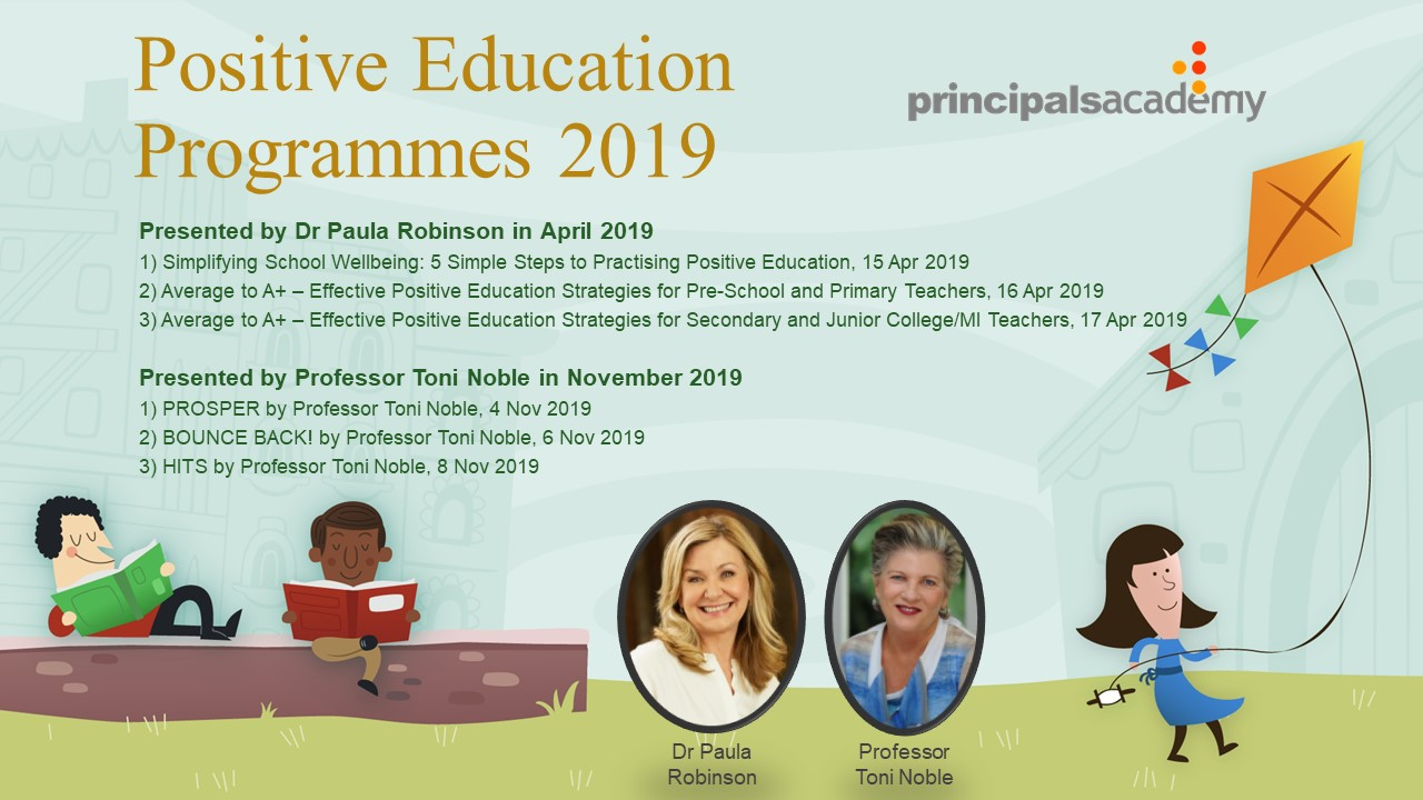 Positive Education Programmes 2019 Dr Robinson  Prof Noble